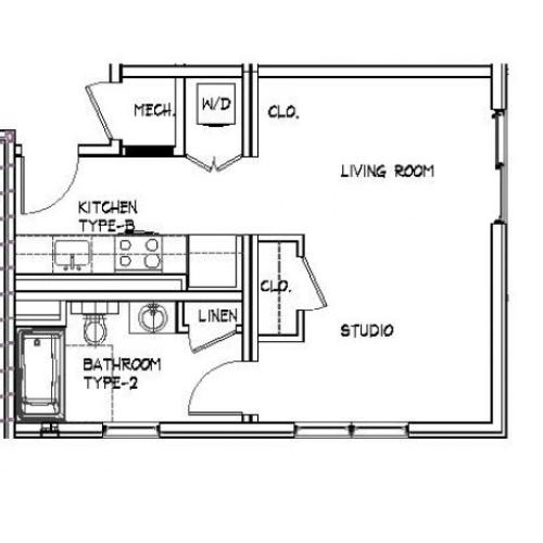 Floor Plan 3 | Luxury Apartments In Allston MA | Trac 75