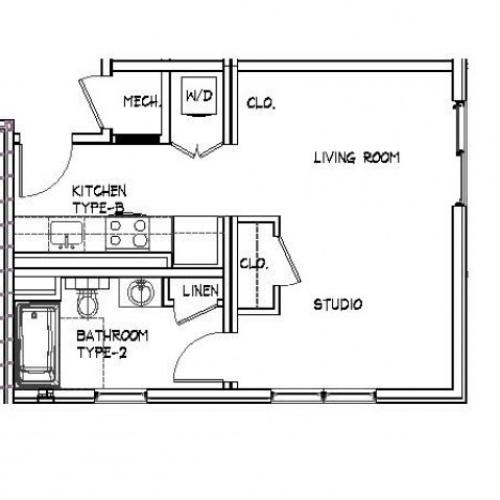 Floor Plan 3 | Luxury Apartments In Allston MA | Trac 75