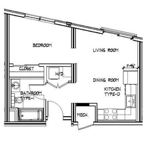 Floor Plan 9 | Apartments Allston | Trac 75