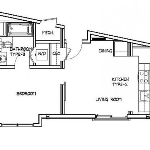 Floor Plan 10 | Brighton Allston Apartments | Trac 75