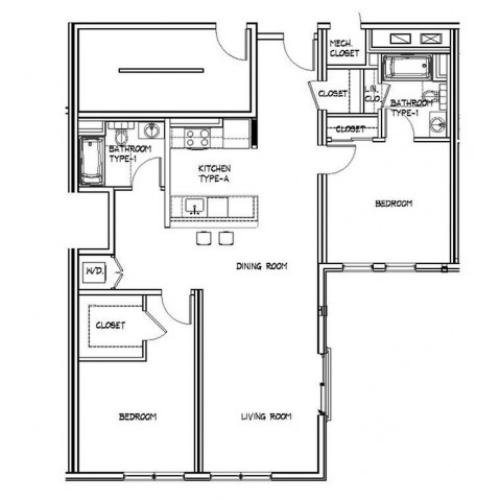 Floor Plan 16 | Apartments In Allston | Trac 75