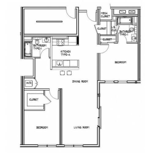 Floor Plan 16 | Apartments In Allston | Trac 75