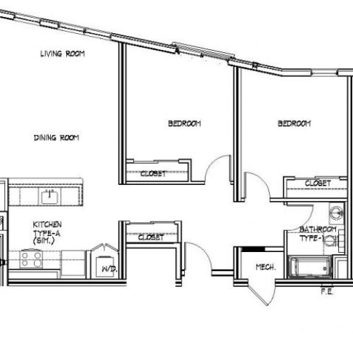 Floor Plan 17 | Allston Apartments Boston | Trac 75