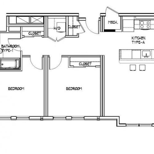 Floor Plan 19 | Apartments Allston | Trac 75
