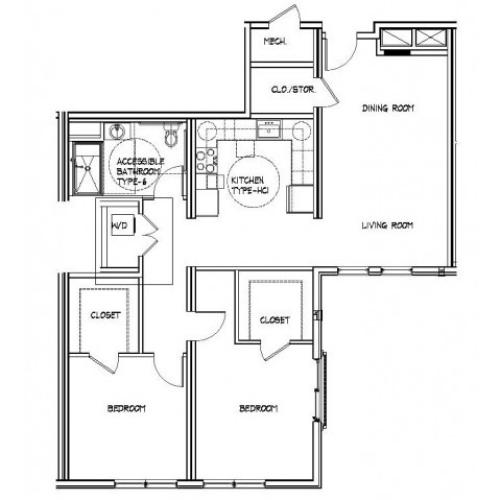 Floor Plan 20 | Brighton Allston Apartments | Trac 75