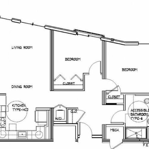 Floor Plan 21 | Luxury Apartments Allston MA | Trac 75