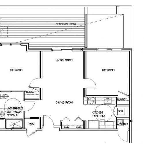 Floor Plan 22 | Allston Studio Apartments | Trac 75