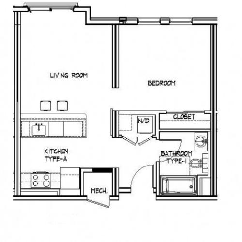 Floor Plan 4 | Allston Apartments | Trac 75