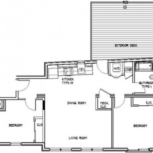 Floor Plan 15 | Apartments For Rent Allston MA | Trac 75