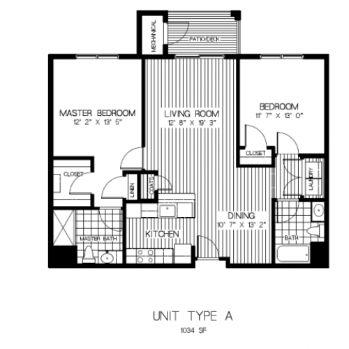 2 Bedroom Floor Plan | Apartments Canton MA | Residences at Great Pond