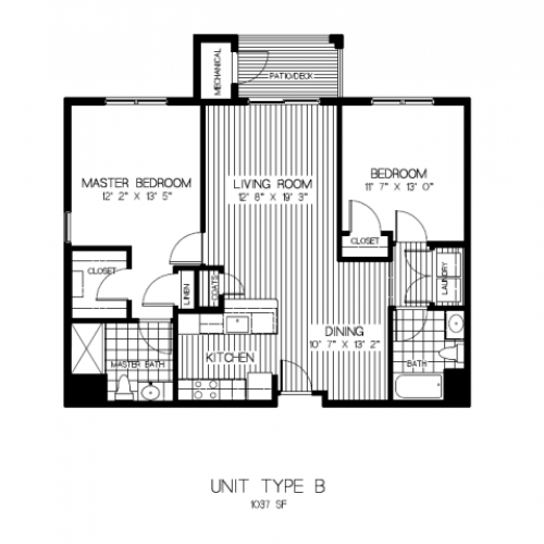 Floor Plan 3 | Apartments Canton MA | Residences at Great Pond