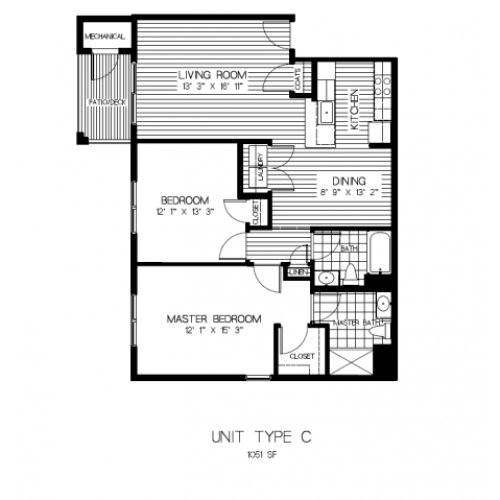 Floor Plan 5 | Apartments Randolph MA | Residences at Great Pond