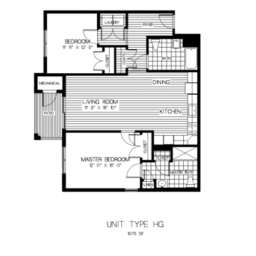 Floor Plan 7 | Apartments In Sharon MA | Residences at Great Pond