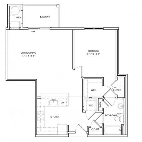 Floor Plan 4 | Apartments For Rent In Baltimore MD | Overlook at Franklin Square
