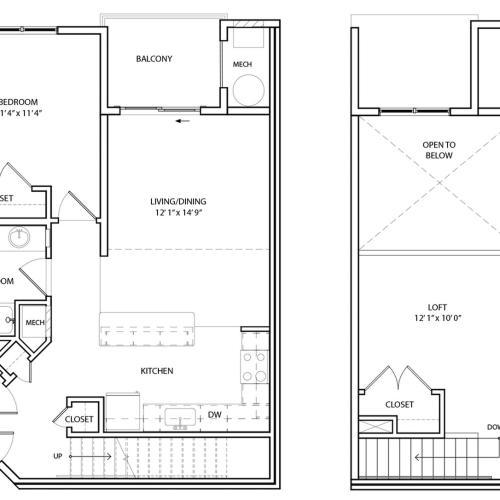 Floor Plan 8 | KW8 | Overlook at Franklin Square