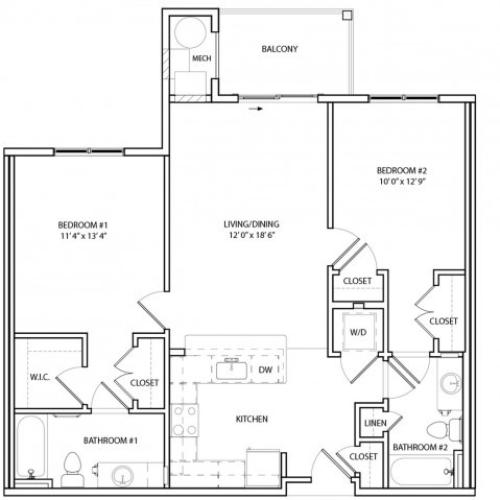 Floor Plan 10 | KW10 | Overlook at Franklin Square