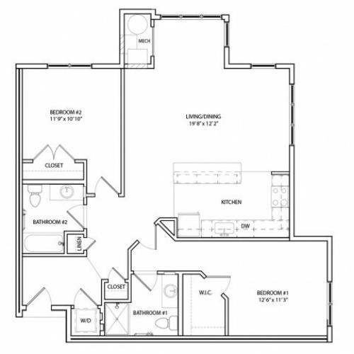 Floor Plan 16 | KW6 | Overlook at Franklin Square