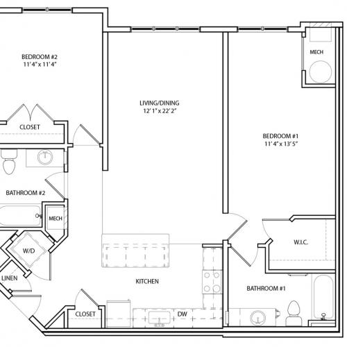 Floor Plan 17 | KW7 | Overlook at Franklin Square