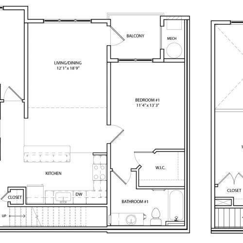 Floor Plan 18 | KW8 | Overlook at Franklin Square