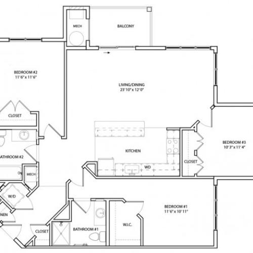 Floor Plan 20 | KW10 | Overlook at Franklin Square
