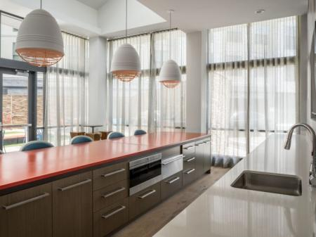 Spacious Clubhouse Kitchen | Quincy Apartments | West of Chesnut