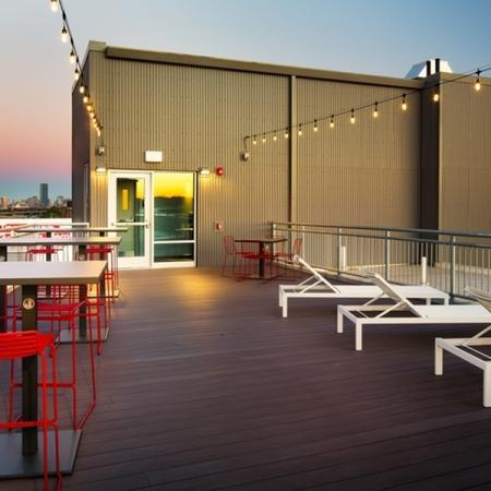 Resident Sun Deck | Apartment Homes In Allston | TRAC 75