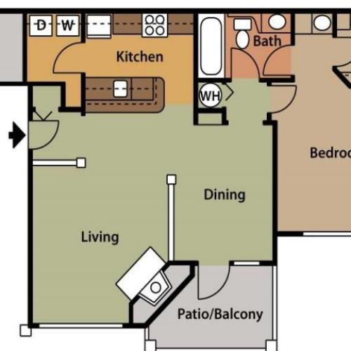 Floor Plan 1 | Apartments In Cary NC | Brook Arbor