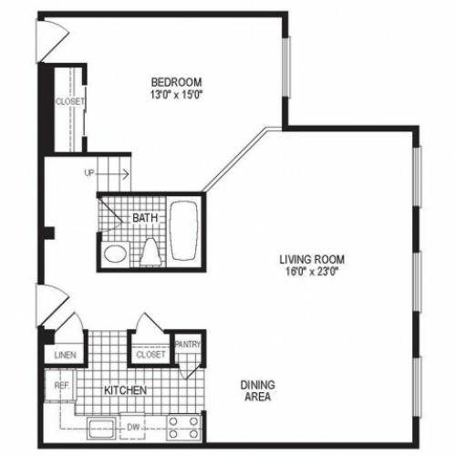 1 Bedroom Floor Plan | Stockbridge Court