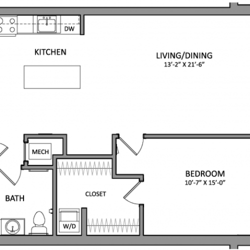 Floor Plan 3 | Apartments In Beverly MA | Link 480