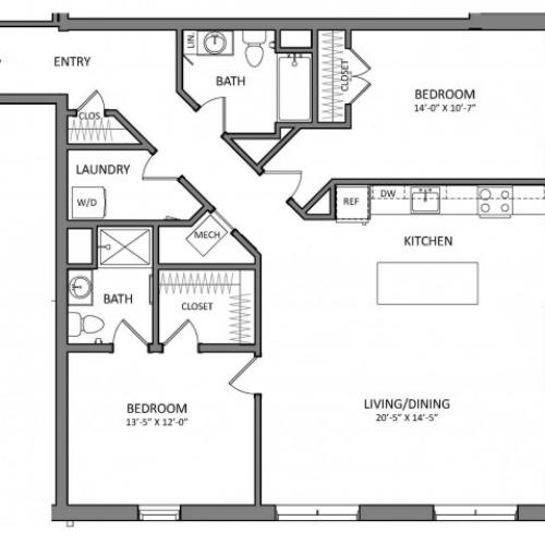 Floor Plan 10 | Apartments North Of Boston | Link 480