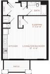 Floor Plan 2 | Studio Apartment Nashua NH | Corsa