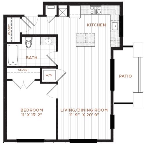 Floor Plan 3 | Nashua NH Apartments | Corsa