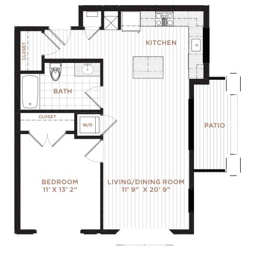 Floor Plan 4 | Apartment In Derry NH | Corsa