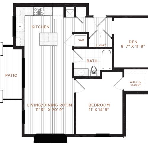 Floor Plan 6 | Derry NH Apartments | Corsa