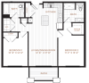 Floor Plan 7 | Studio Apartment Nashua NH | Corsa