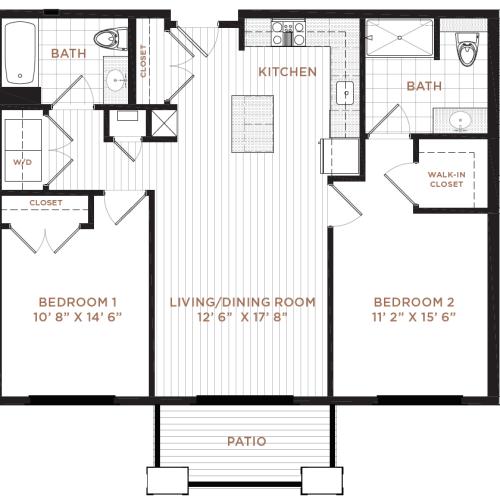 Floor Plan 7 | Studio Apartment Nashua NH | Corsa