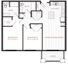 2 Bdrm Floor Plan | Apartment In Derry NH | Corsa