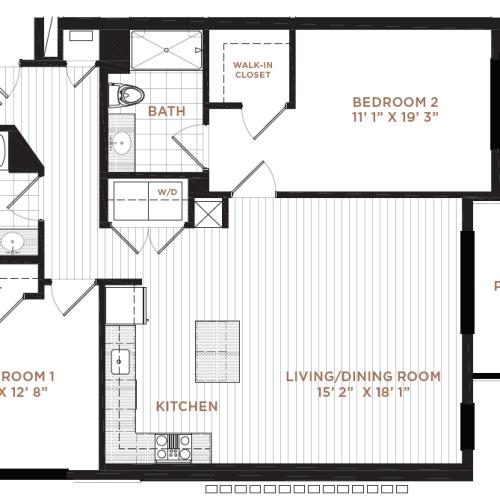 Floor Plan 9 | Apartment In Derry NH | Corsa