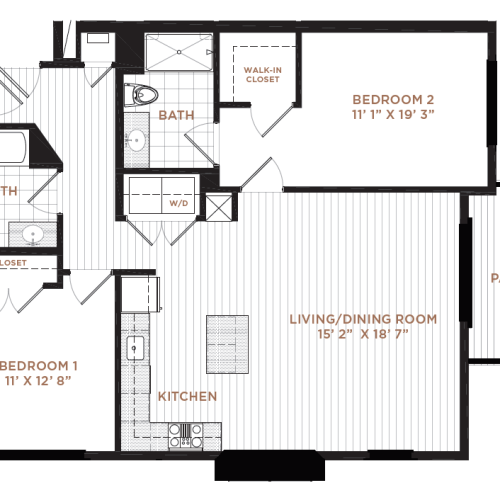 Floor Plan 11 | Derry NH Apartments | Corsa