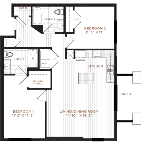 Floor Plan 12 | Studio Apartment Nashua NH | Corsa