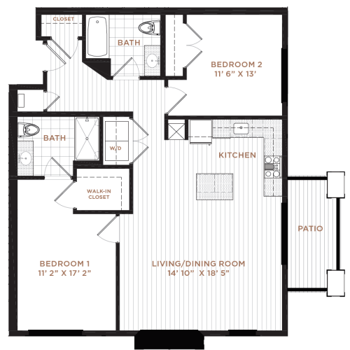 Floor Plan 13 | Nashua NH Apartments | Corsa