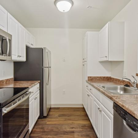 Kitchen at Kensington apartments in Chelmsford in MA