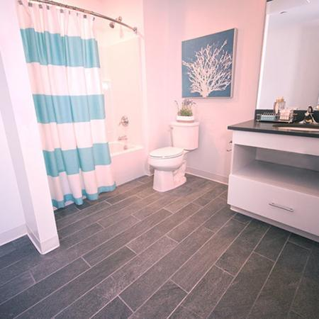 Spacious Master Bathroom | Portsmouth NH Apartments For Rent Downtown | Veridian Residences