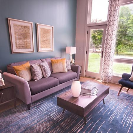 Elegant Living Room | 1 Bedroom Apartments In Portsmouth NH | Veridian Residences