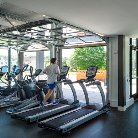 Cutting Edge Fitness Center | Portsmouth NH Apartments For Rent Downtown | Veridian Residences