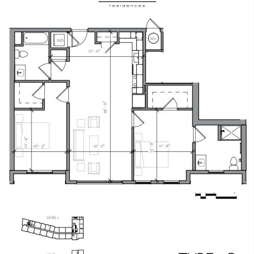 Floor Plan 4 | Portsmouth NH Apartments For Rent Downtown | Veridian Residences