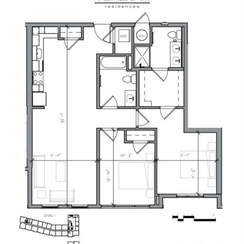 Floor Plan 5 | Apartments Near Portsmouth NH | Veridian Residences