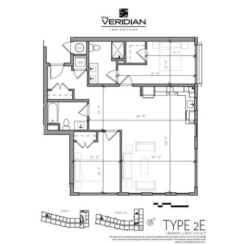 Floor Plan 6 | Portsmouth NH Luxury Apartments | Veridian Residences
