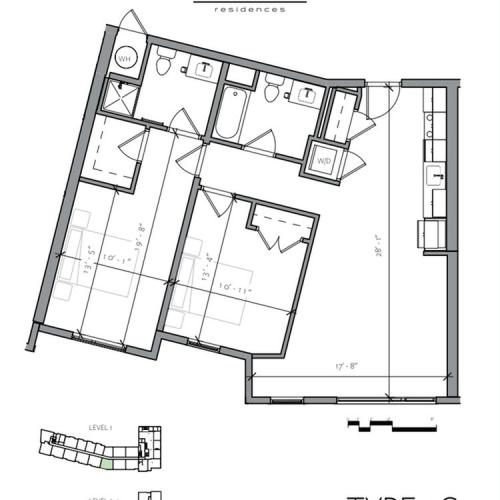 Floor Plan 8 | Apartments In Portsmouth NH | Veridian Residences