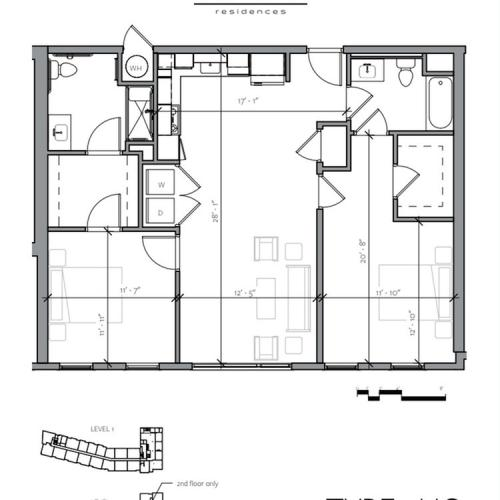 Floor Plan 10 | Apartments Near Portsmouth NH | Veridian Residences